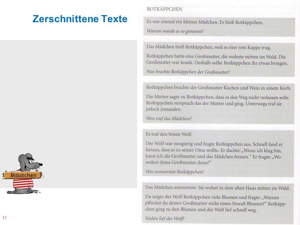 Zerschnittene Texte 17