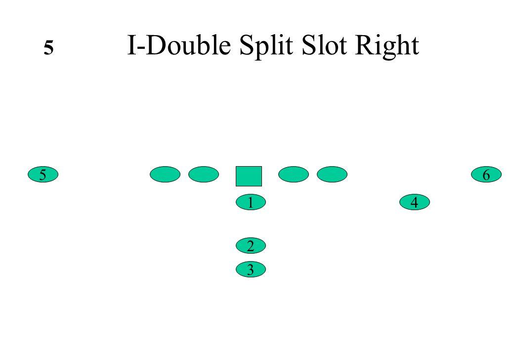 I-Double Split Slot Right 6 4 5 1 2 3 5