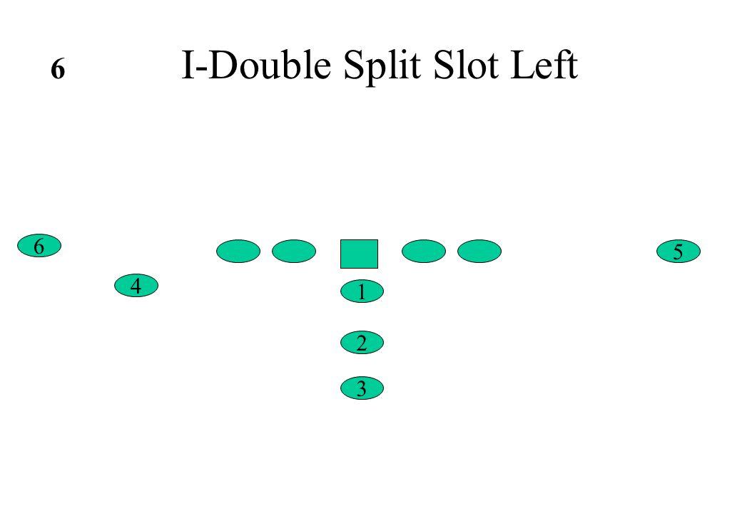 I-Double Split Slot Left 6 4 5 1 2 3 6