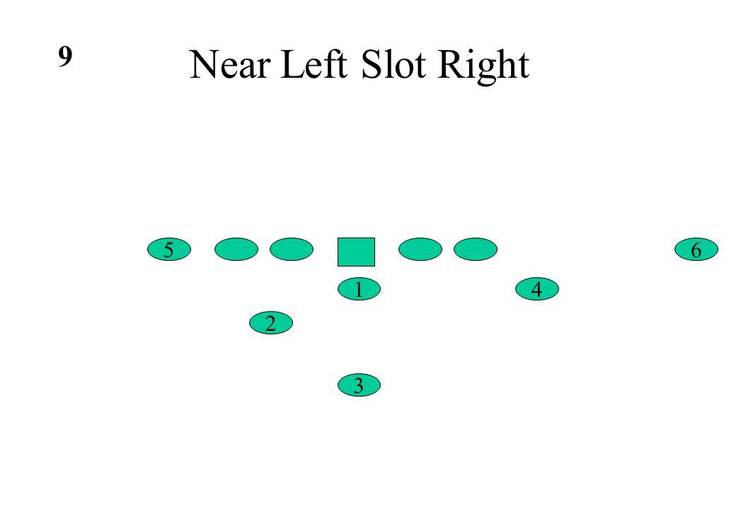 Near Left Slot Right 6 4 5 1 2 3 9
