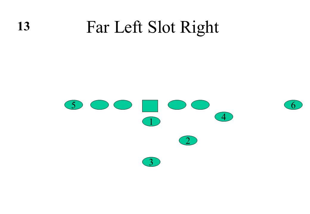 Far Left Slot Right 6 4 5 1 2 3 13