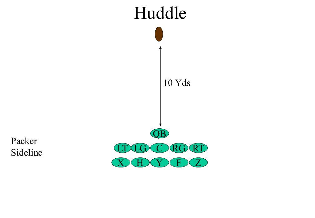 Huddle ZFY LG X C QB LTRTRG H Packer Sideline 10 Yds