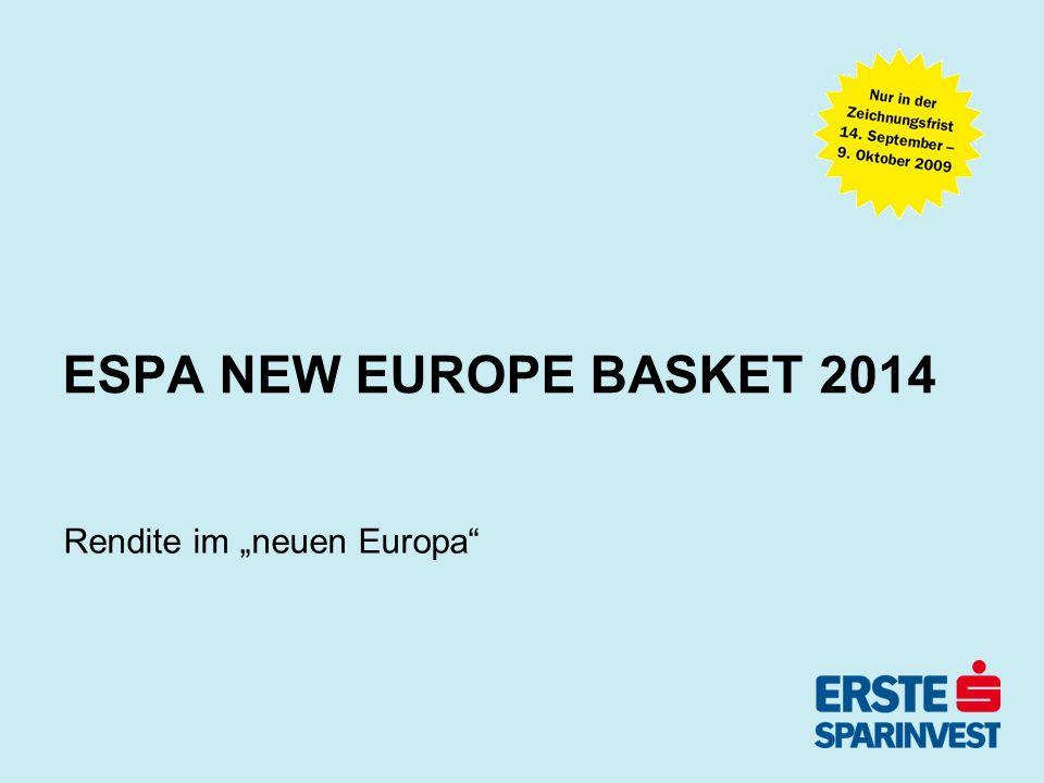 September 09 - Seite 2 Fondsprofil -Der ESPA NEW EUROPE BASKET 2014 ist ein 5jähriger Laufzeitenfonds, der in Staatsanleihen und staatsgarantierte Anleihen von neuen EU-Mitgliedsstaaten und EU- Beitrittskandidaten investiert.