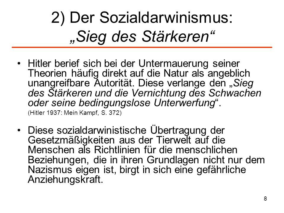 9 Wolfsgesetz Recht des Stärkeren als Erklärungsmodell für die Gesellschaft und menschliches Handeln Wolfsmetapher war beliebtes Bild der Nazi-Propaganda zur Veranschaulichung des Führerprinzips und des Rudels