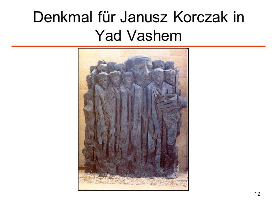 12 Denkmal für Janusz Korczak in Yad Vashem