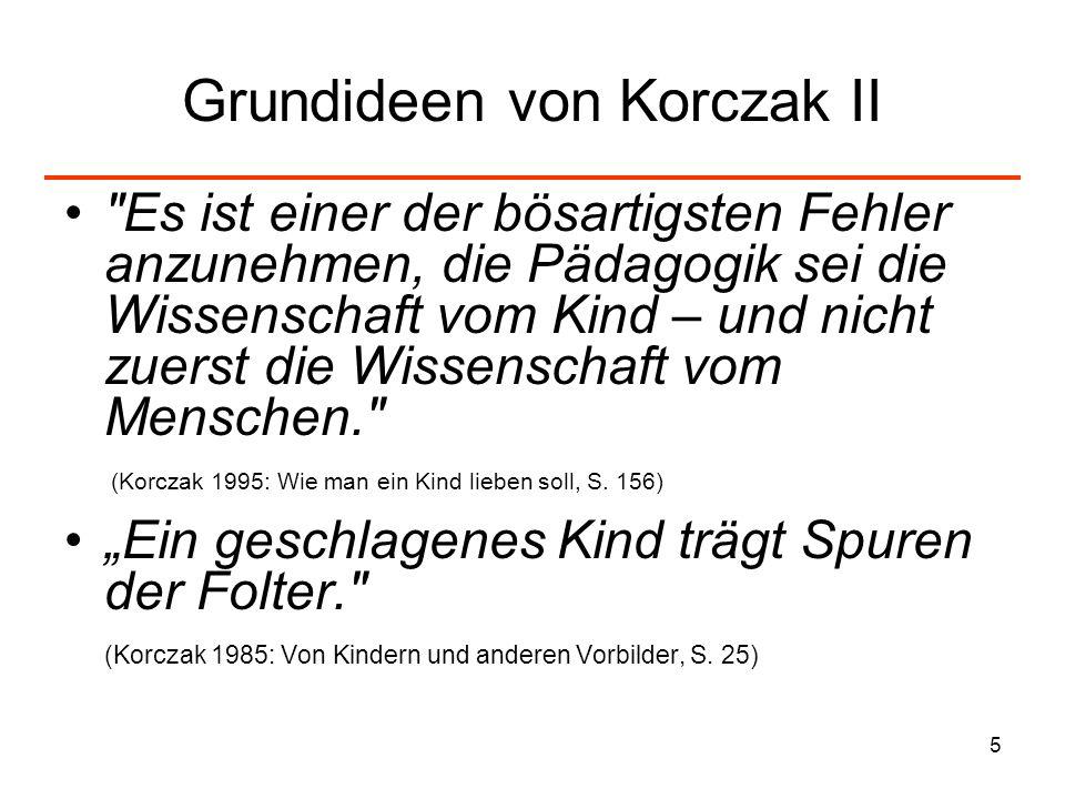 5 Grundideen von Korczak II