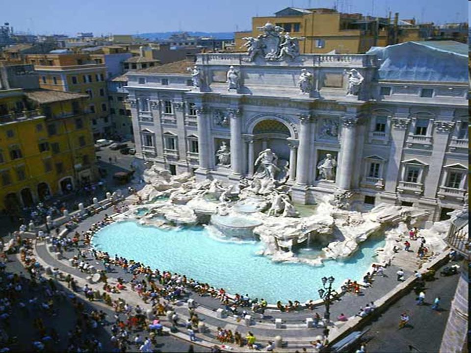 ..Die Stadt von Rom zählt viele und viele Brunnen, die in den größten und bekanntesten Plätzen stehen..