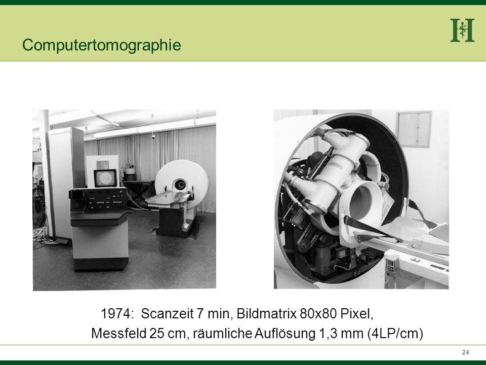 23 1972 Hounsfield präsentiert ersten Computer-Tomographen Computertomographie