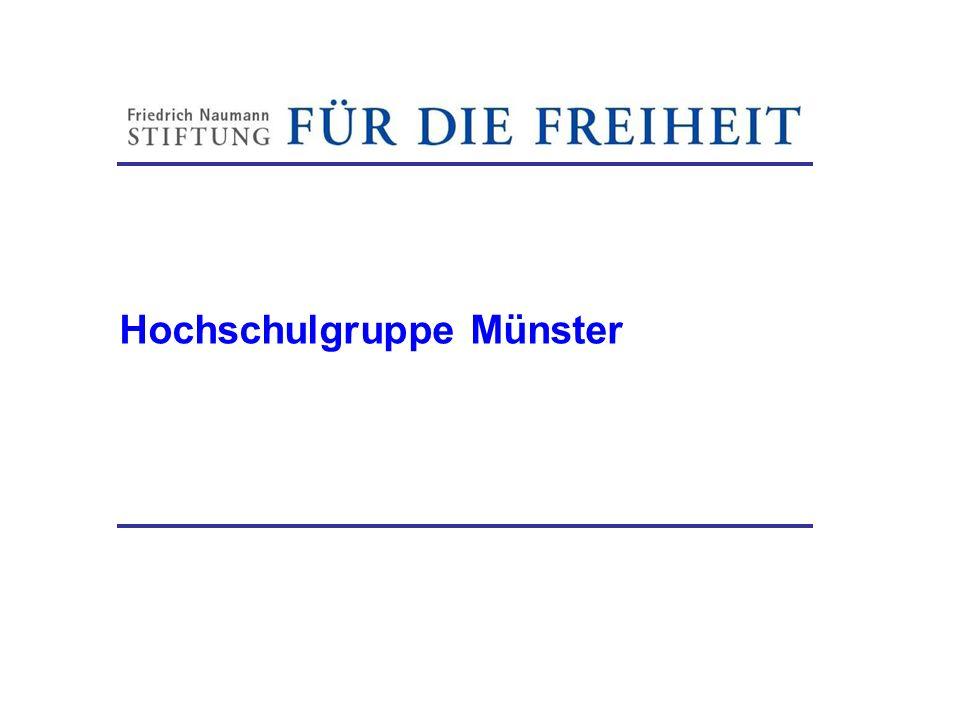 Hochschulgruppe Münster Friedrich-Naumann-Stiftung