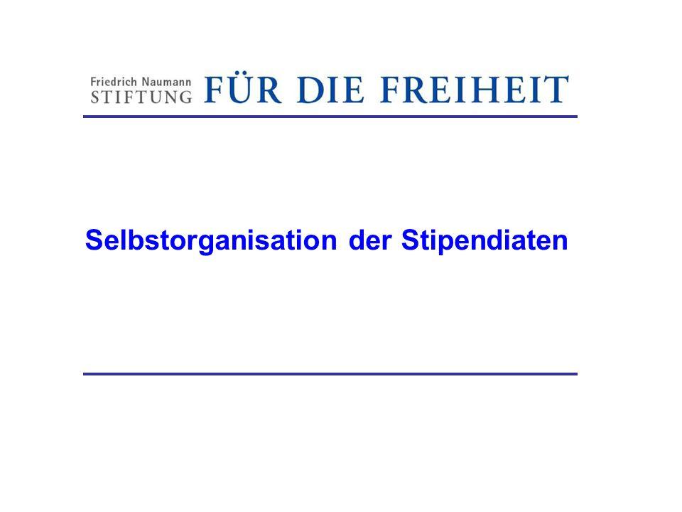 Selbstorganisation der Stipendiaten Friedrich-Naumann-Stiftung