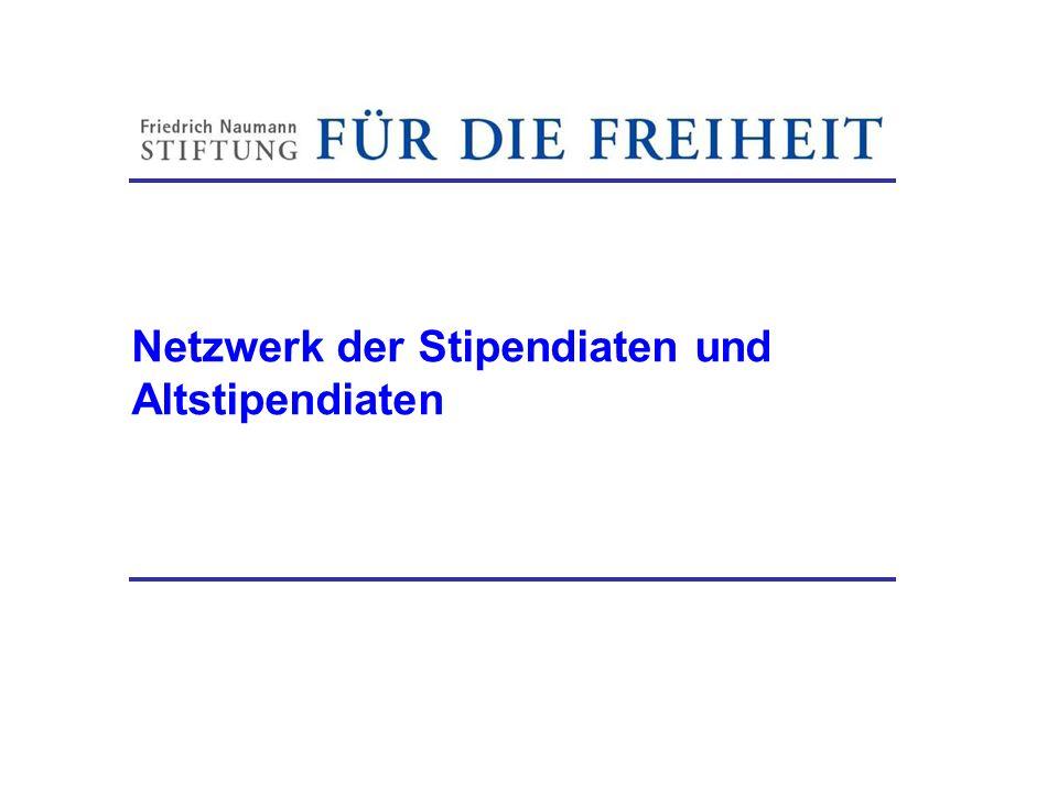 Netzwerk der Stipendiaten und Altstipendiaten Friedrich-Naumann-Stiftung