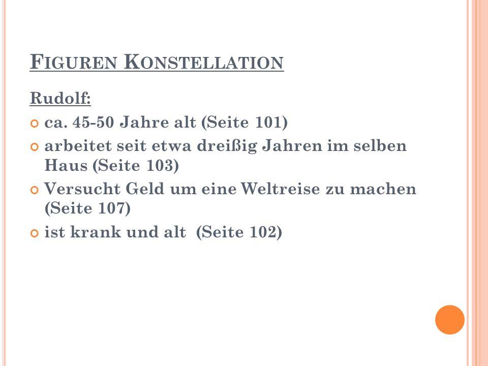 F IGUREN K ONSTELLATION Rudolf: ca.