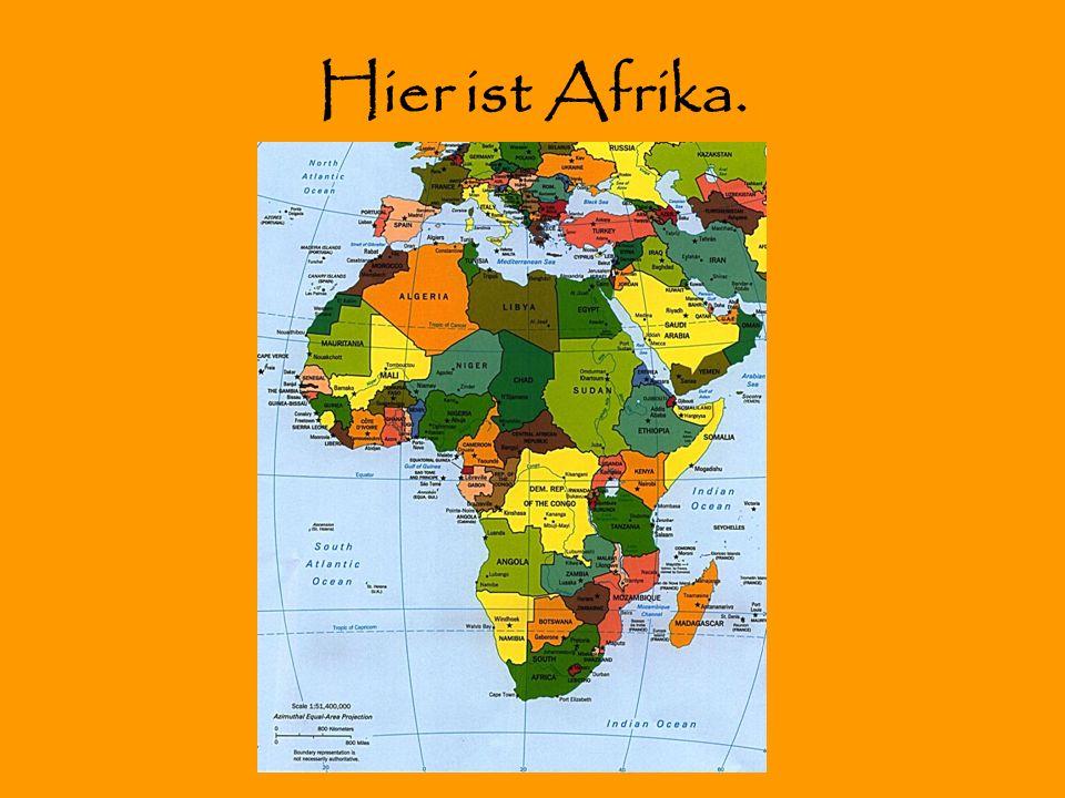 Hier ist Afrika.