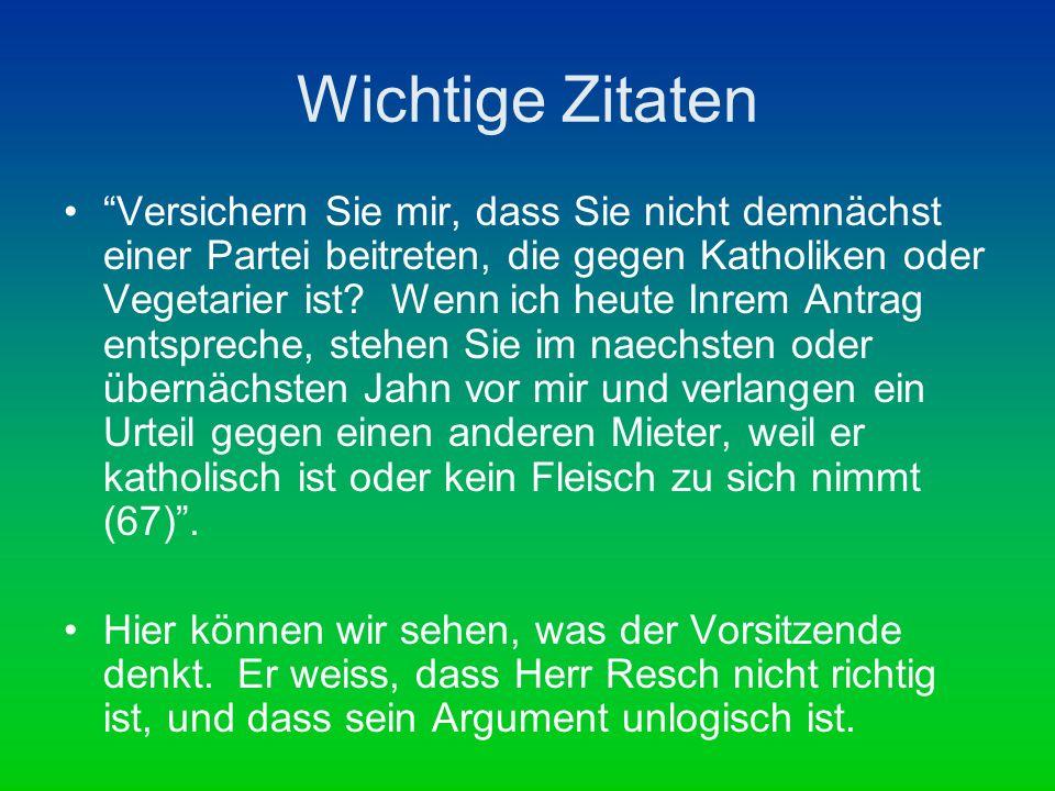 Wichtige Zitaten Der Kläger hat immer gewusst, dass ich Jude bin.