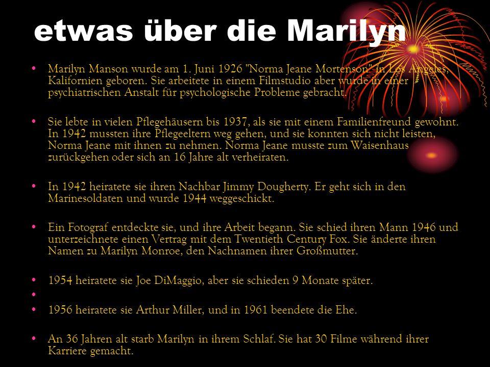 etwas über die Marilyn Marilyn Manson wurde am 1. Juni 1926