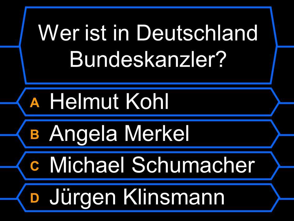 Wer ist in Deutschland Bundeskanzler?