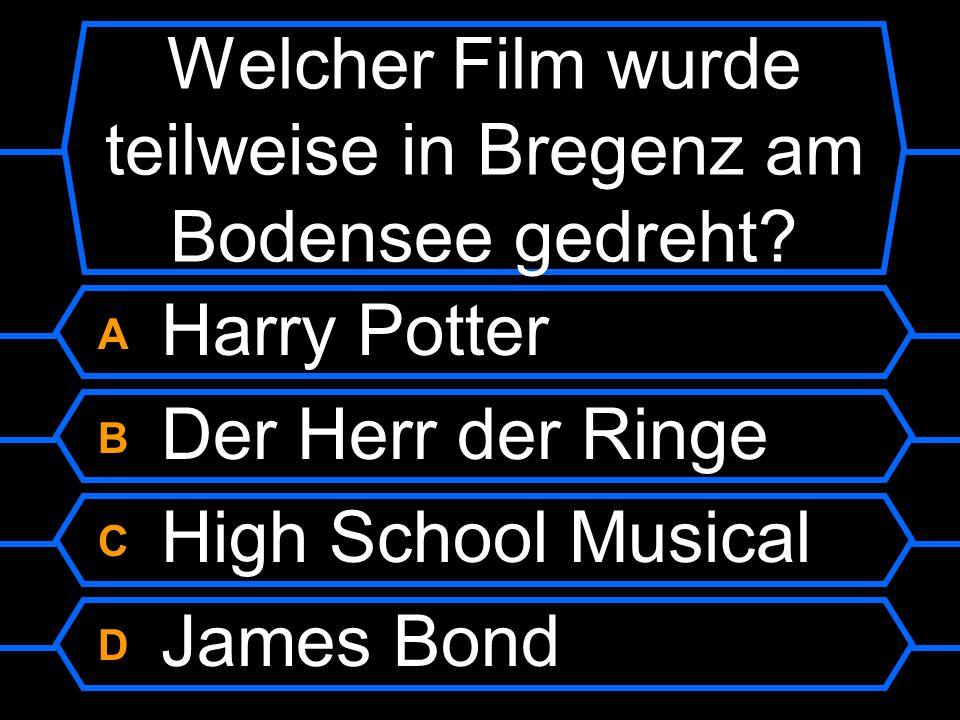Welcher Film wurde teilweise in Bregenz am Bodensee gedreht?