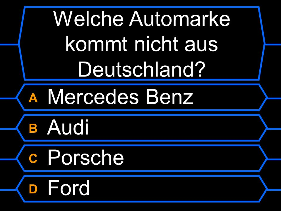 Welche Automarke kommt nicht aus Deutschland?