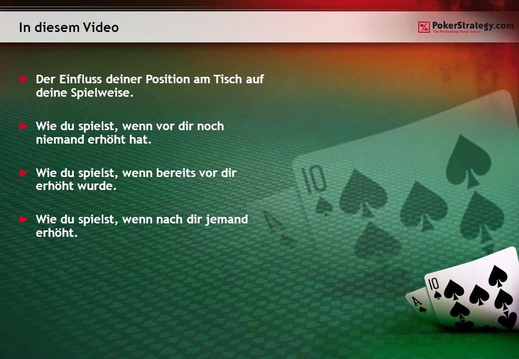 In diesem Video Der Einfluss deiner Position am Tisch auf deine Spielweise.
