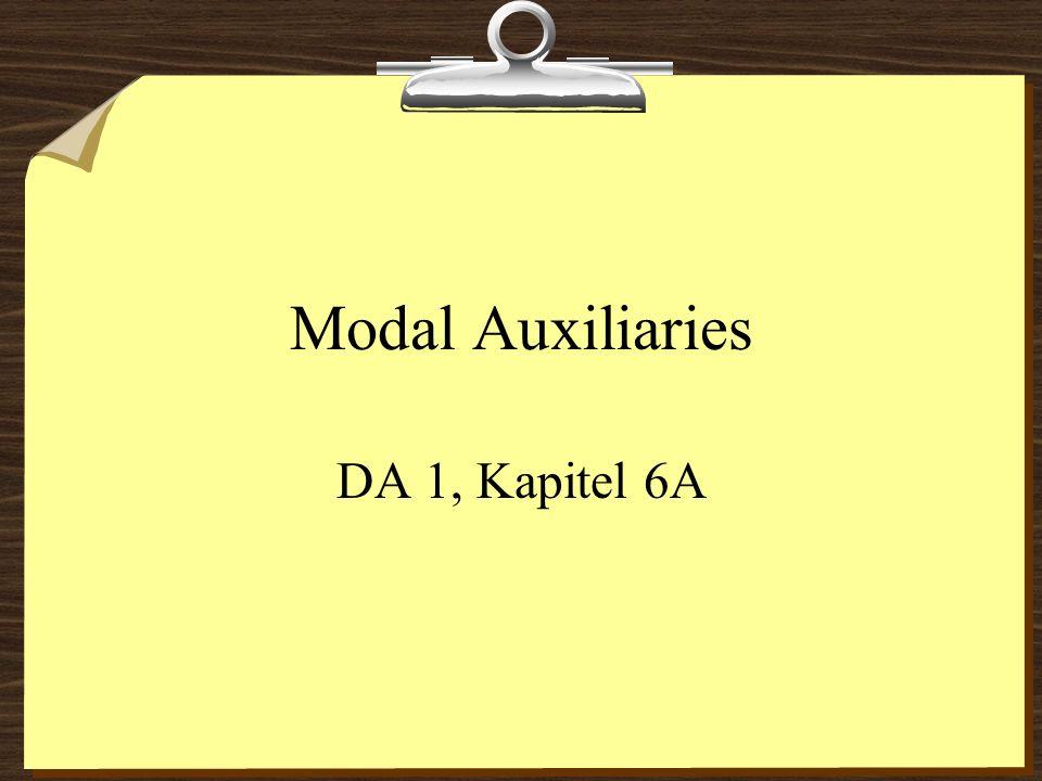 Modal Auxiliaries DA 1, Kapitel 6A
