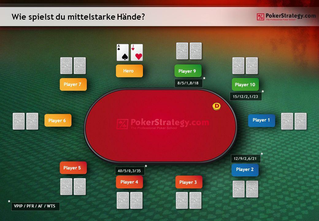 Wie spielst du mittelstarke Hände.