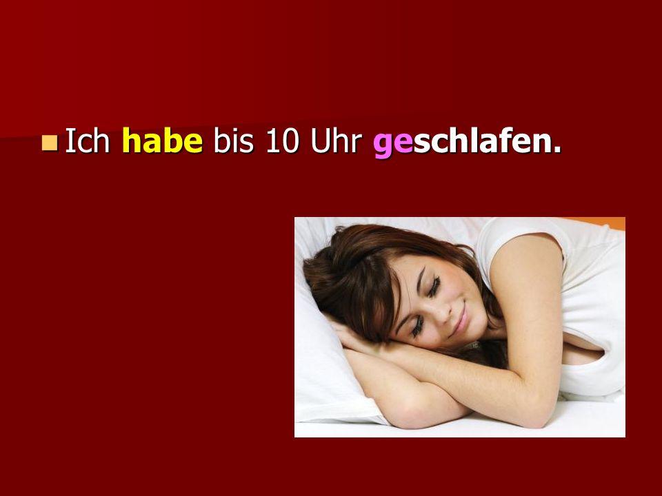 Z czasownikiem posiłkowym sein utworzymy Perfekt dla: czasowników nieprzechodnich (bez dopełnienia w bierniku) oznaczających ruch: czasowników nieprzechodnich (bez dopełnienia w bierniku) oznaczających ruch: kommen, gehen, fahren, laufen, fliegen, schwimmen kommen, gehen, fahren, laufen, fliegen, schwimmen czasowników oznaczających zmianę stanu: czasowników oznaczających zmianę stanu: sterben, einschlafen, aufwachen, aufstehen sterben, einschlafen, aufwachen, aufstehen WYJĄTKI!!!.