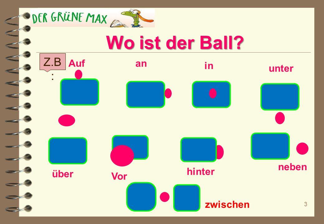 Wechsel-präpositionen an – in – auf – über – unter – hinter – vor – zwischen - neben + Der, Das, Die, Die pl = ?