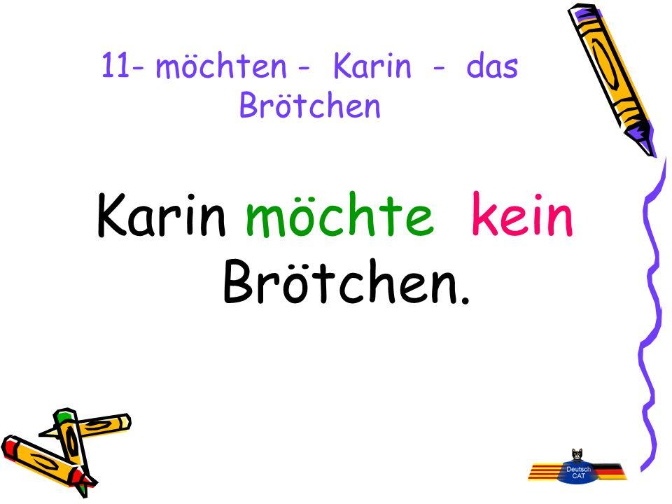 11- möchten - Karin - das Brötchen Karin möchte kein Brötchen.