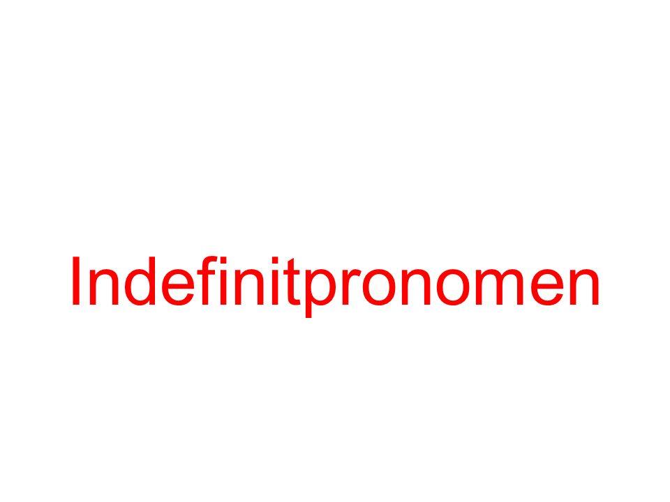 Indefinitpronomen