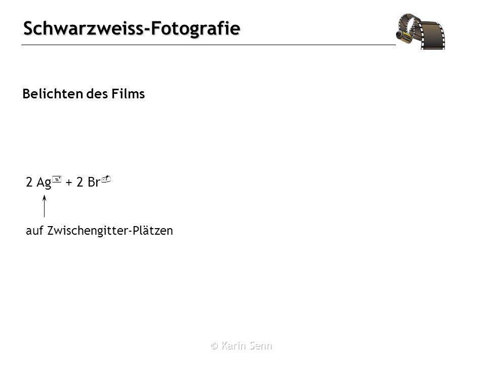 Schwarzweiss-Fotografie Belichten des Films 2 Ag + + 2 Br - auf Zwischengitter-Plätzen