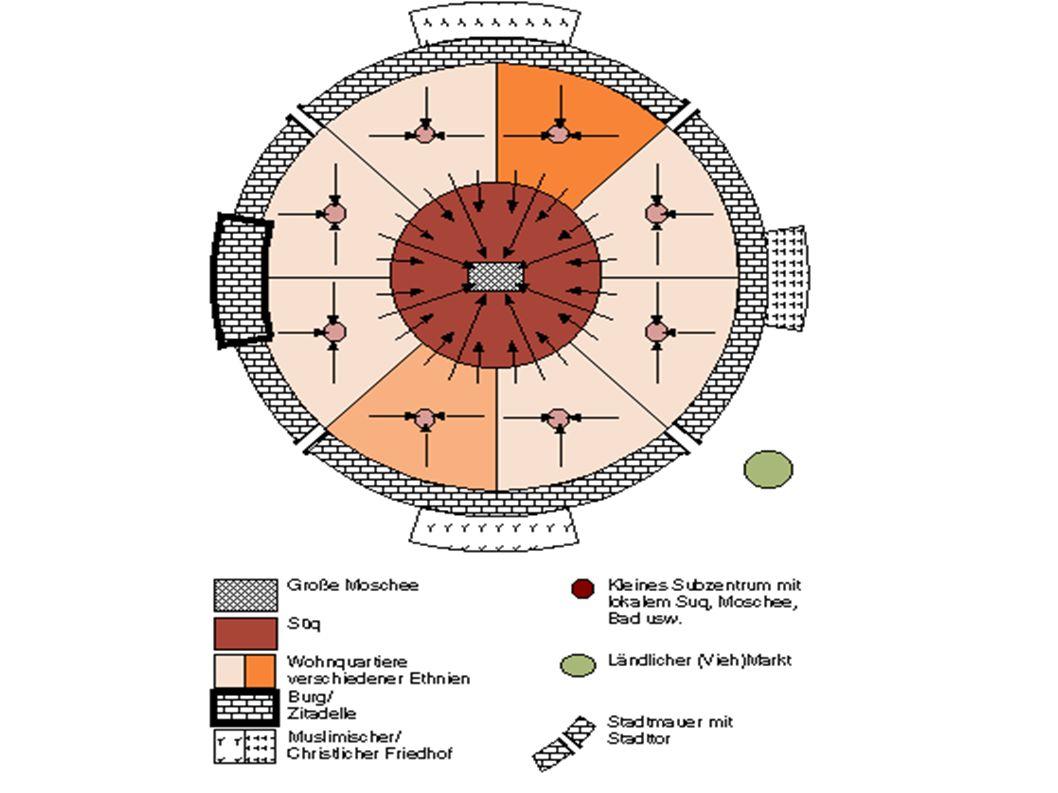 Orientalische Stadt - heute Strukturwandel: Einfluss des Westens in allen gesellschaftlichen Bereichen erkennbar Westen = Vorbild Traditionell orientalische Stadtstrukturen werden überformt und zerstört