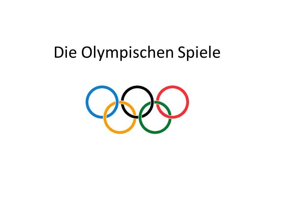 Die Olympischen Spiele begannen in Griechenland in 776 vor Christus