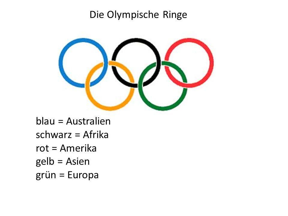 Die Olympischen Spiele finden alle 4 Jahre statt.Dieses Jahr, 2012, sind sie in London.