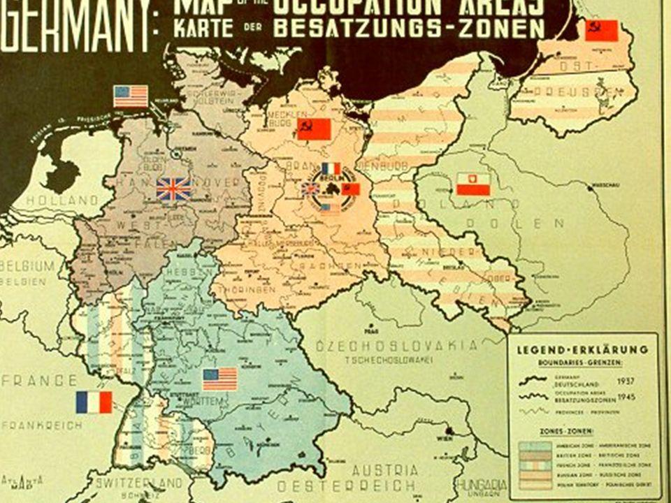 1949 Gründung zweier deutscher Staaten Die BRDDie DDR Die Bundesrepublik Deutschland = Westdeutschland Die Deutsche Demokratische Republik = Ostdeutschland