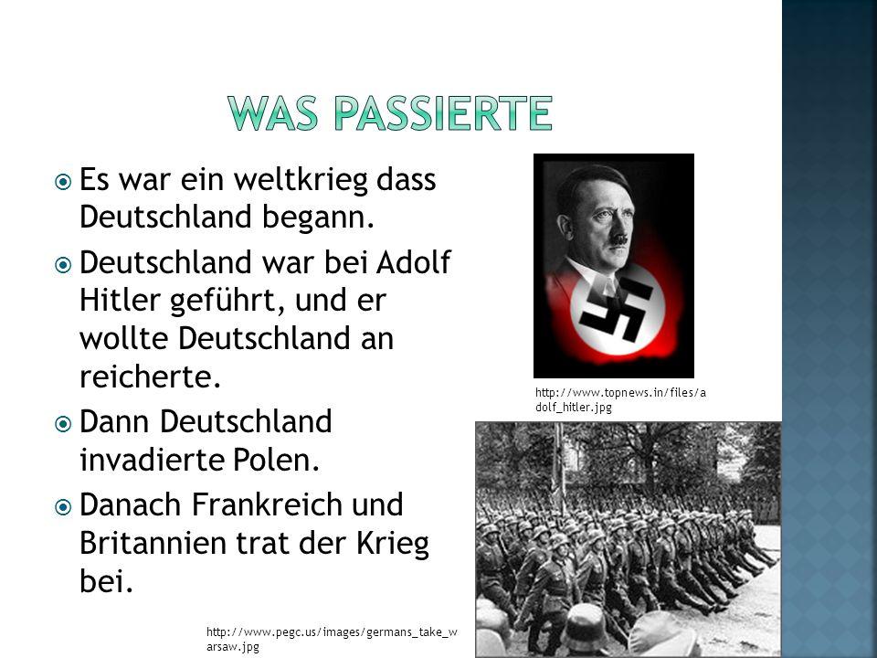 Es war ein weltkrieg dass Deutschland begann.