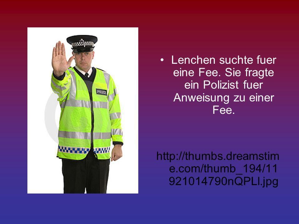 Lenchen suchte fuer eine Fee. Sie fragte ein Polizist fuer Anweisung zu einer Fee. http://thumbs.dreamstim e.com/thumb_194/11 921014790nQPLl.jpg
