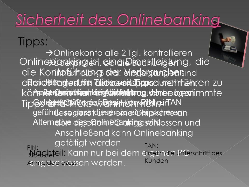Onlinebanking ist eine Dienstleistung, die die Kontoführung der Verbraucher erleichtert.