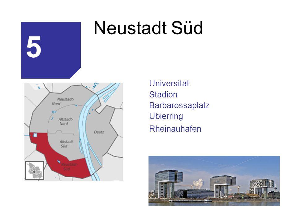 Neustadt Süd Universität Stadion Barbarossaplatz Ubierring Rheinauhafen 5