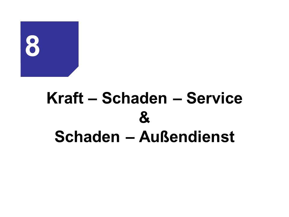 Kraft – Schaden – Service & Schaden – Außendienst 8