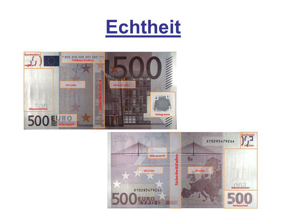 in Deutschland gibt es mehr Falschgeldnoten als Münzen (ermittelte die Deutsche Bundesbank) 2010 gab es ca.