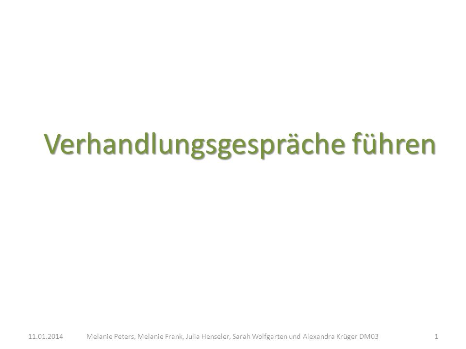 Verhandlungsgespräche führen Melanie Peters, Melanie Frank, Julia Henseler, Sarah Wolfgarten und Alexandra Krüger DM0311.01.20141