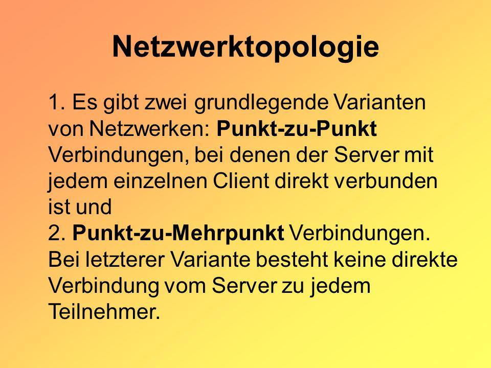 Welche neue Netzwerktopologie hat Ihr Kollege gemeint.