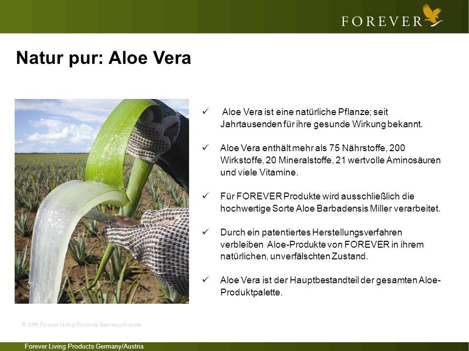 Aloe Vera ist eine natürliche Pflanze; seit Jahrtausenden für ihre gesunde Wirkung bekannt. Aloe Vera enthält mehr als 75 Nährstoffe, 200 Wirkstoffe,