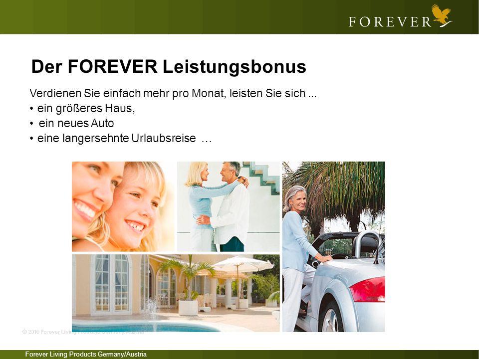 Forever Living Products Germany/Austria Verdienen Sie einfach mehr pro Monat, leisten Sie sich... ein größeres Haus, ein neues Auto eine langersehnte
