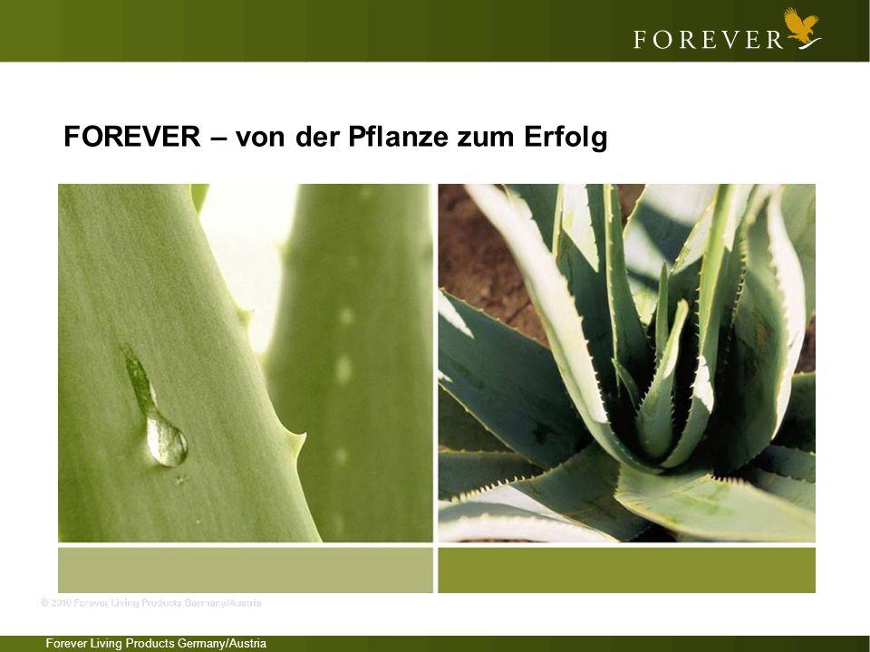 Forever Living Products Germany/Austria FOREVER – von der Pflanze zum Erfolg