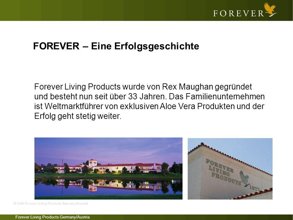 Forever Living Products Germany/Austria FOREVER – Eine Erfolgsgeschichte Forever Living Products wurde von Rex Maughan gegründet und besteht nun seit