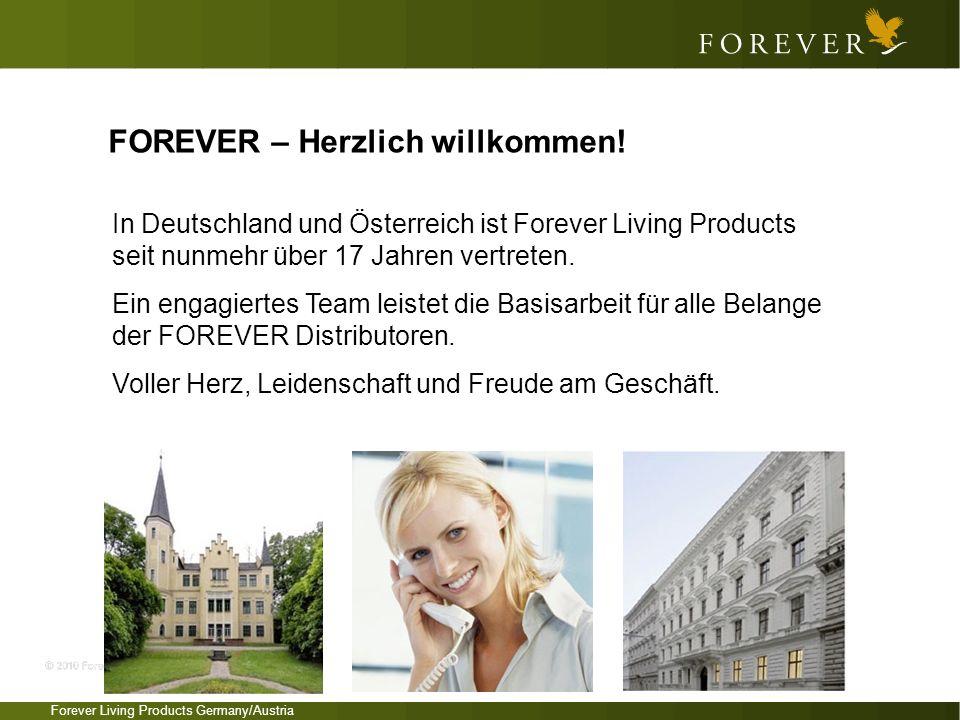Forever Living Products Germany/Austria In Deutschland und Österreich ist Forever Living Products seit nunmehr über 17 Jahren vertreten. Ein engagiert