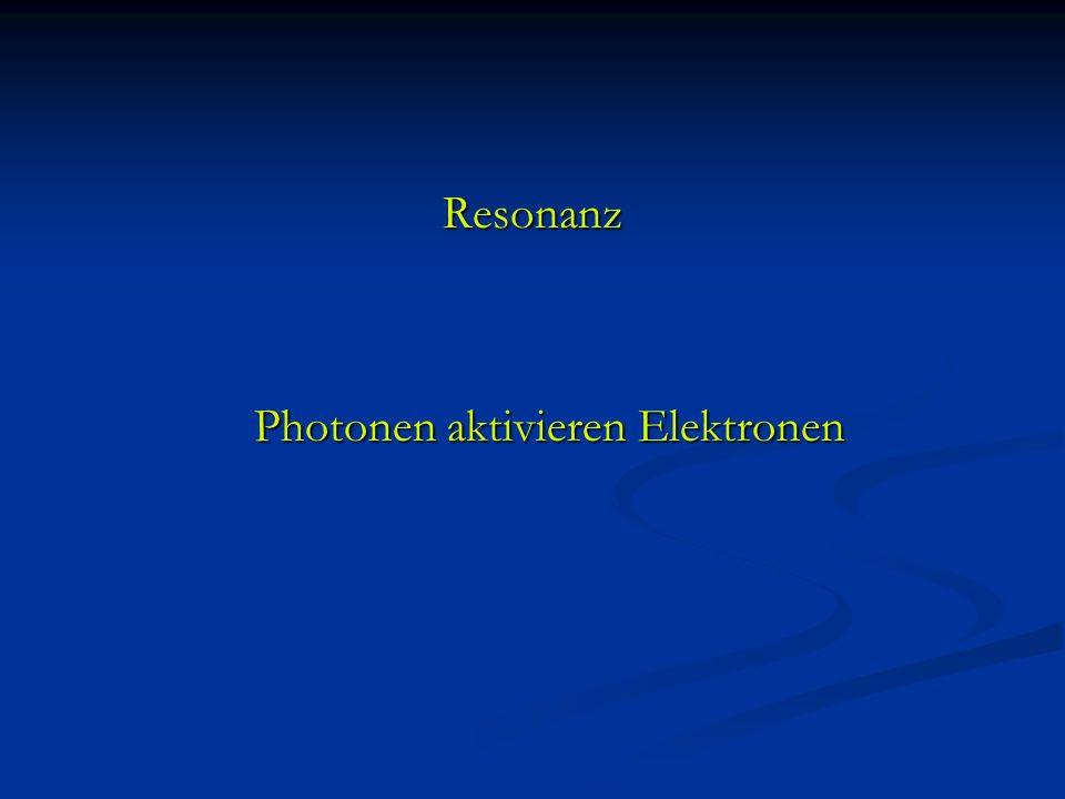 Resonanz Photonen aktivieren Elektronen Photonen aktivieren Elektronen