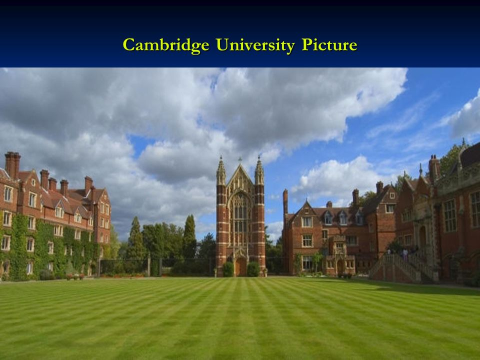 Cambridge University Picture
