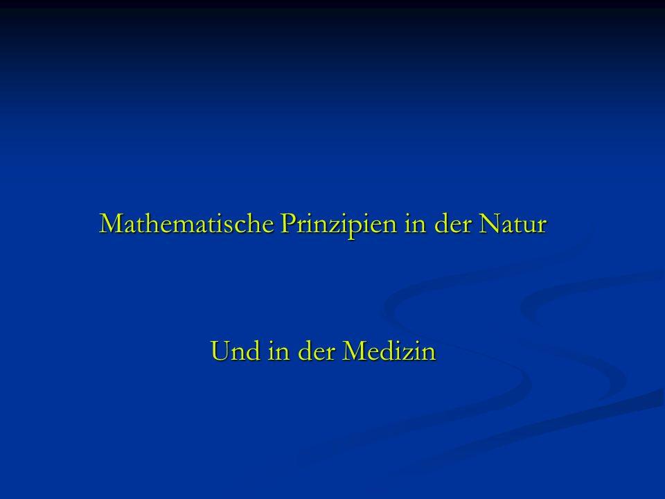 Mathematische Prinzipien in der Natur Mathematische Prinzipien in der Natur Und in der Medizin Und in der Medizin